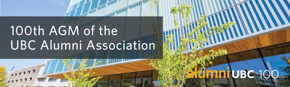 100th AGM of the UBC Alumni Association